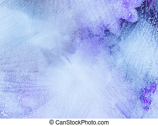 Beautiful blue-violet organic Ice abstraction - Beautiful...