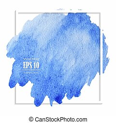 Beautiful blue watercolor stain