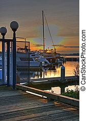 Beautiful Boats at Marina Sunset