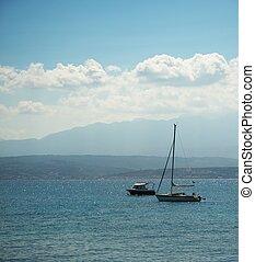Beautiful boats in the sea