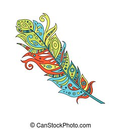 feather, vector illustration
