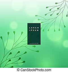 beautiful bokeh background with floral leaves design