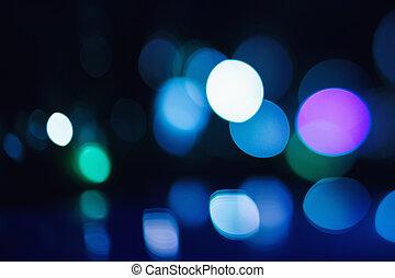 Beautiful Bokeh Lights on Dark Background