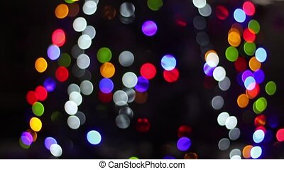 beautiful bokeh of the Christmas tree