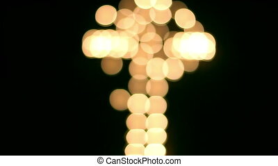 Beautiful bokeh with a cross in the background - Beautiful...