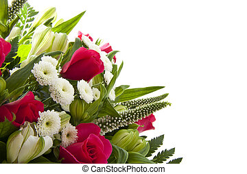 Beautiful bouquet - colorful bouquet with pink roses for...