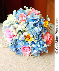 Beautiful bouquet for wedding ceremony