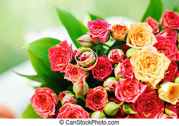 beautiful bouquet of bright red flowers