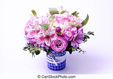 Beautiful bouquet of flowers - Beautiful pink bouquet of ...
