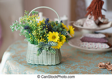 beautiful bouquet of flowers in a vase on the table