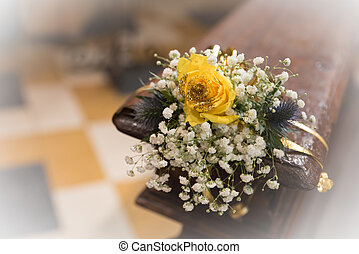 Beautiful bouquet of flowers of the spouses