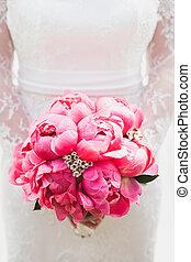 Beautiful bouquet of peony flowers