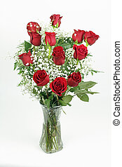 Beautiful Bouquet of Red Roses - One red roses flower...