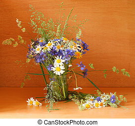 Beautiful bouquet of wild flowers