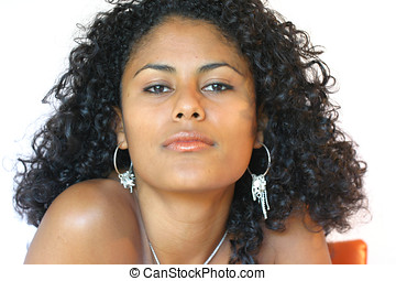 Beautiful brazilian - Gorgeous brazilian woman on white...