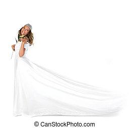 Beautiful Bridal Portrait in Studio