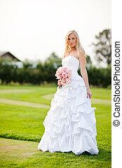 Beautiful bride - A shot of a beautiful caucasian bride...