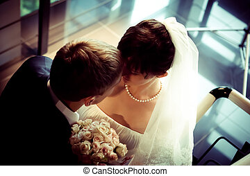 Beautiful Bride and groom together