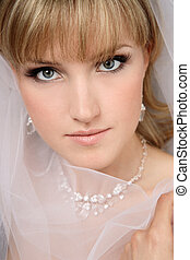 Beautiful bride - Close-up portrait of young beautiful bride...