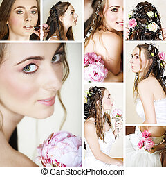 beautiful bride collage - collage of a beautiful bride...