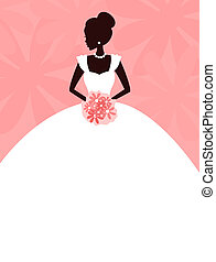 Beautiful Bride - Illustration of a young elegant bride...