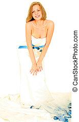 Beautiful Bride In Her Gown