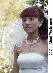 beautiful bride in park (2)