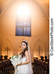 Beautiful bride in the Church
