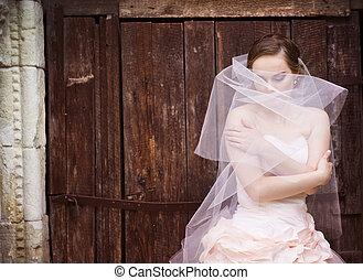 Beautiful bride in veil