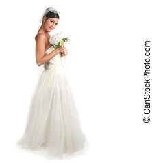 Beautiful Bride on White: Softly Focused