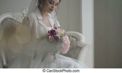 Beautiful bride portrait - Close up portrait of a beautiful...