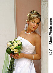 Beautiful bride - The beautiful bride with a bouquet from...