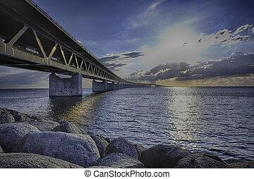beautiful bridge between Denmark and Sweden