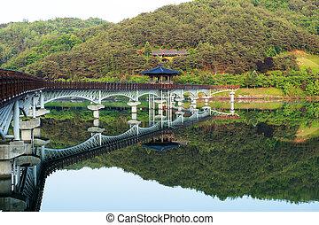 Beautiful bridge in South Korea, wolyounggyo