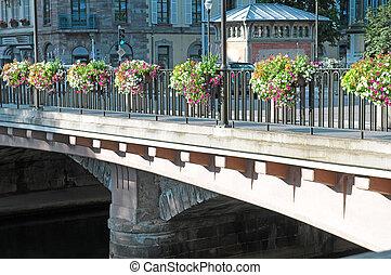 beautiful bridge in the city