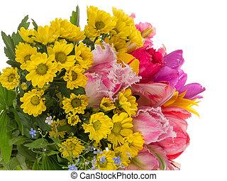 beautiful bright bouquet of unusual
