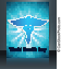 Beautiful Brochure World health day caduceus medical symbol template reflection colorful vector