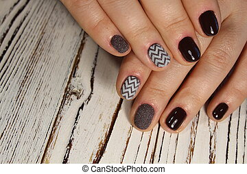 beautiful brown manicure