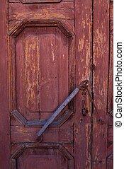 Beautiful brown wooden background door locks