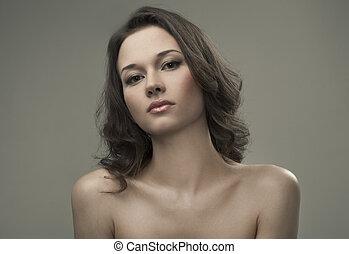 Beautiful Brunette Girl. Fashion Portrait