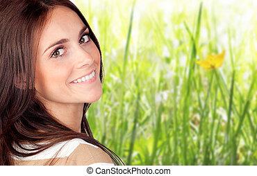 Beautiful brunette girl