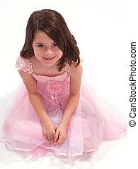 Beautiful Brunette in Pink