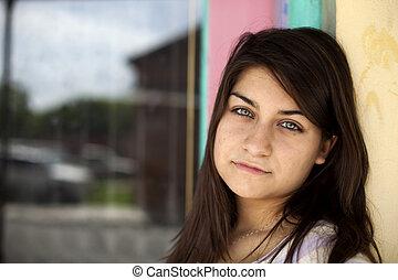Beautiful Brunette with Piercing Eyes - A beautiful brunette...