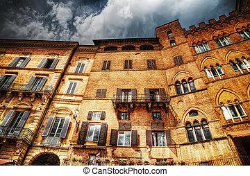 beautiful building in Siena in hdr