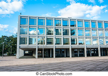 Beautiful building of City Hall in the center of Kouvola, Finland