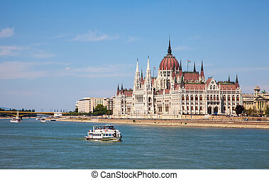 beautiful building of the Parliament in Budapest, Hungary