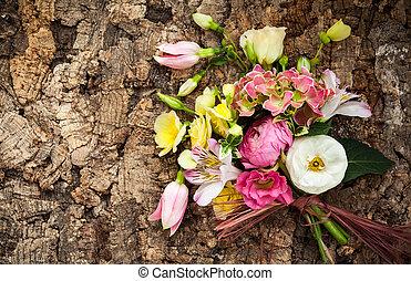 bunch of flowers - Beautiful bunch of flowers . Overhead...