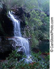 Beautiful bushland waterfall in Blue Mountains
