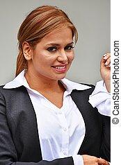Beautiful Business Woman Smiling