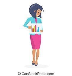 Beautiful Businesswoman Poster Vector Illustration